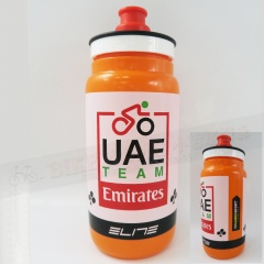 ELITE-Team UAE-2017車隊版水壺/平口式/550ml-橘/瓶蓋黑